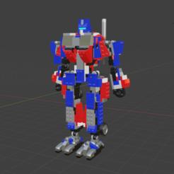 Download free 3D printing templates Kre-O set 30689 Transformers Optimus Prime, nefM24