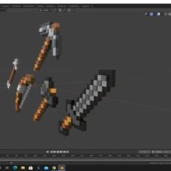 Télécharger fichier impression 3D gratuit articles de minecaft, nefM24