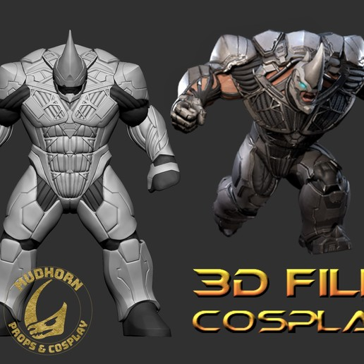Download 3D printer files Cosplay Armor - Rhino - Spider-man Villain 6ft tall - Playstation armor, propsandcosplay