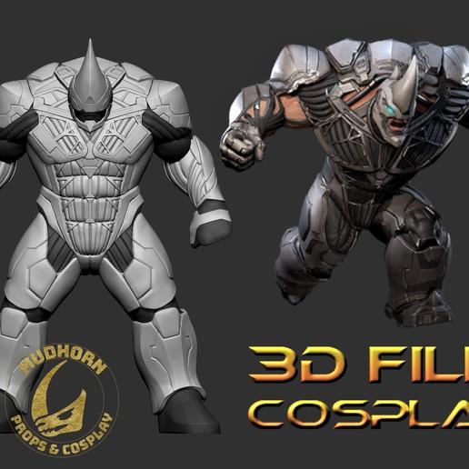 Impresiones 3D Armadura Cosplay - Rhino - Spider-man Villano de 6 pies de altura - Armadura Playstation, propsandcosplay