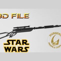 Download 3D printing models Star Wars Cosplay - Mandalorian Custom Westar Rifle - 3D File, propsandcosplay