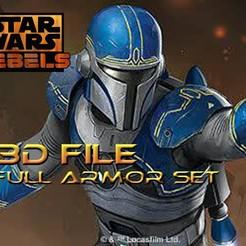 Télécharger plan imprimante 3D Cosplay Star Wars - Fenn Rau - Armure de protection mandalorienne, propsandcosplay