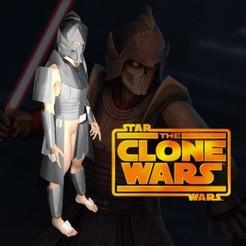 Télécharger plan imprimante 3D Cosplay Armor - Dark Bane - Fichier d'impression 3d - Star Wars Clone Wars Canon, propsandcosplay