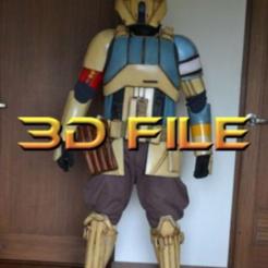 Télécharger modèle 3D Star Wars Cosplay - ShoreTrooper Armor + Helmet - Fichier gratuit sur le blaster E-22, propsandcosplay