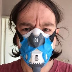 BBBBB.jpg Download free STL file Neo Samurai Mask Cover V1 • 3D printing model, seudodesign