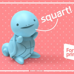 Download free 3D printer designs Squartle Seudo, seudodesign