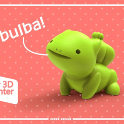 Poke2.png Download free STL file Bulbasaur Seudo • 3D printable template, seudodesign