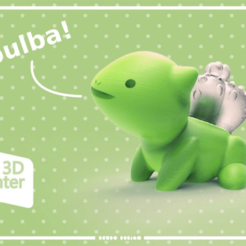 bitmap.png Download free STL file Seudo Bulbasaur Flower Pot • 3D printing design, seudodesign
