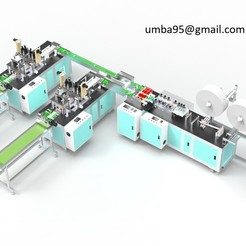 Download free 3D printing designs Surgical mask production line, umba