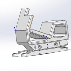 _20200423114351.png Download free STL file 穿越机可替换狗座gopro frame changeable for alien • 3D printing model, melonshu
