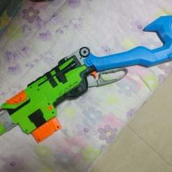 Download free 3D printing designs nerf zombie leveraction stock, melonshu