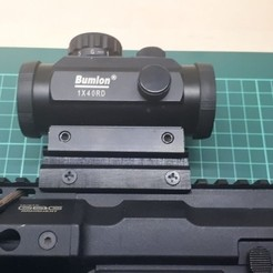 Download free 3D print files Picatinny Extended Mount (for red-dot or holosight), OOGUZH13