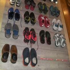 Wall_of_shoes.JPG Télécharger fichier STL gratuit Le mur des chaussures - Organisateur de chaussures • Design à imprimer en 3D, Foxeddy