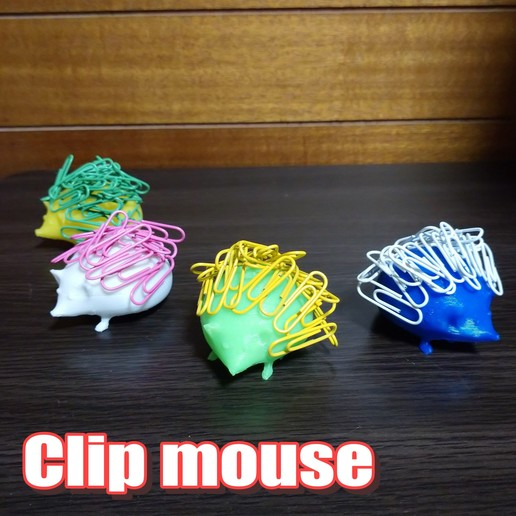 Impresiones 3D Ratón con clip, comcom_atelier