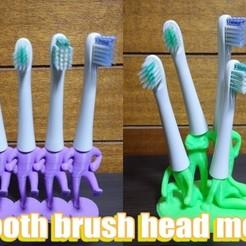 Impresiones 3D gratis Los hombres de cabeza de cepillo de dientes, comcom_atelier