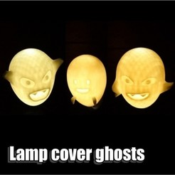 DSC_4.JPG Download STL file Lamp cover ghosts • 3D print design, comcom_atelier