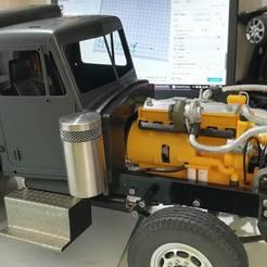 Engine - 1.jpg Télécharger fichier STL CAT 3406C - Moteur diesel Caterpillar 1/14 Tamiya • Design pour impression 3D, mattzimms234