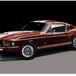 ca99783de4a3140648ec85741c349b05.png Download STL file 1965 Ford Mustang Hardtop • 3D printer model, Gianbgn