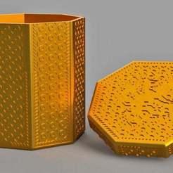 Impresiones 3D gratis Caja octogonal con la parte superior, imakina