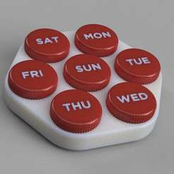 Pills_case_eng_HR.jpg Download free STL file Weekly pills case • Design to 3D print, imakina