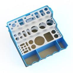Toolbox render4.jpg Download STL file Tool holder improved • 3D printer design, imakina
