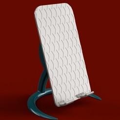 Download 3D printing templates Adjustable phone or tablet holder, imakina