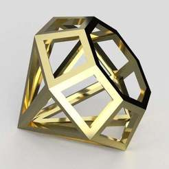 Diamond_gold.jpg Download free STL file Diamond shape • 3D printer model, imakina