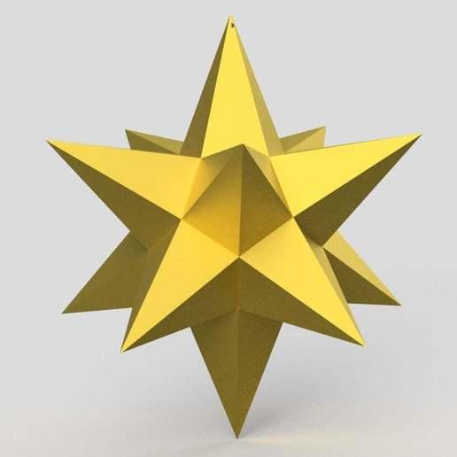 Xmas_star.jpg Download free STL file Christmas star easy print • 3D printer template, imakina