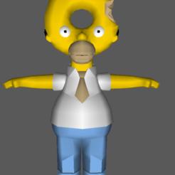 Download 3D printer templates Homer Donut, imbackleesin
