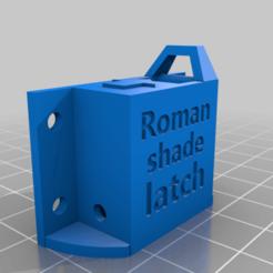 Download free 3D printer files Roman shade latch, mbernalcu