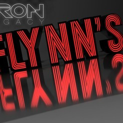 Download 3D printing designs Carlz TRON LED Flynn`s Arcade Sign, mother74