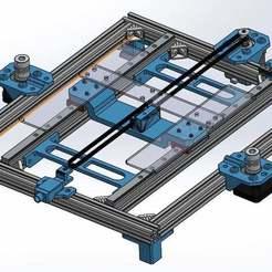 Descargar modelos 3D gratis Actualización de los ejes Y del raíl lineal de Anet A8, danzig483