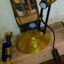 20201213_134654.jpg Télécharger fichier STL gratuit Pied et clamp de table pour lampe de bureau articulée • Modèle pour impression 3D, hervea