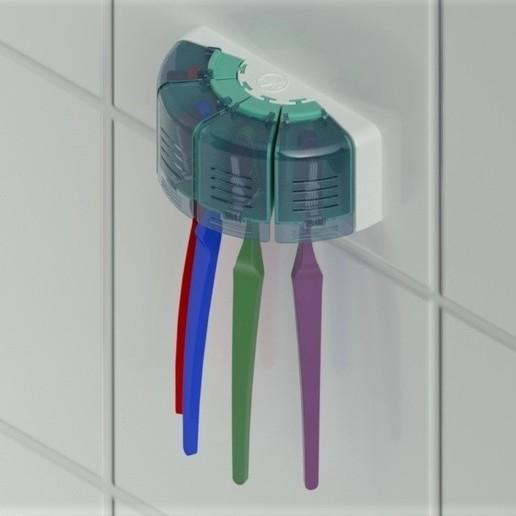 Imprimir en 3D Porta cepillos de dientes, TridiStudium
