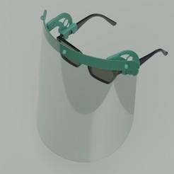Descargar STL Máscara facial con gafas (Modelo 1), TridiStudium