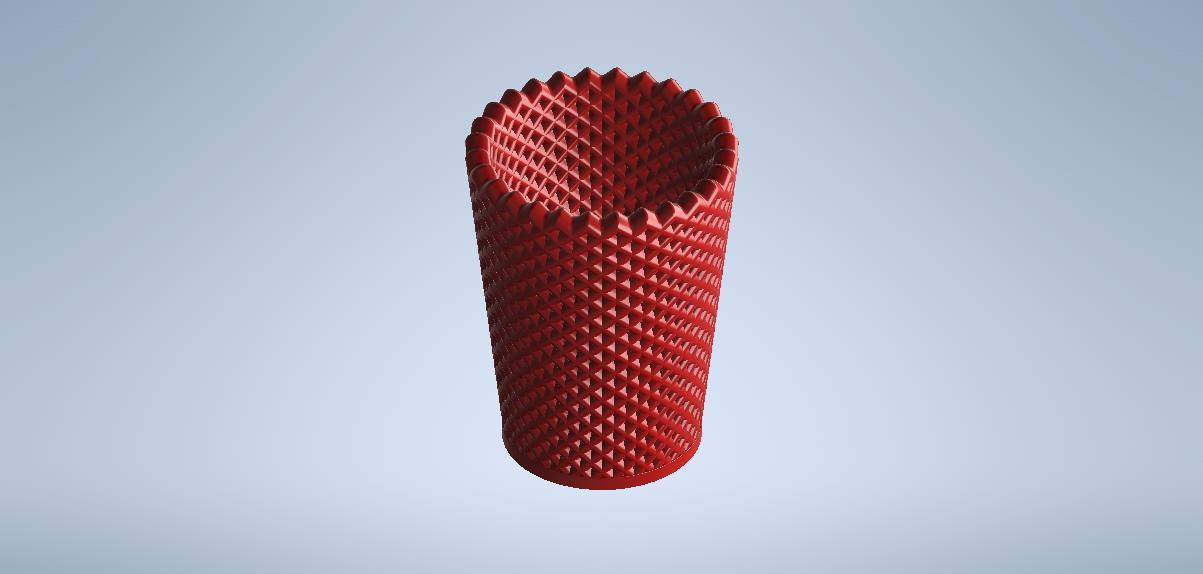 vaso3.0gorri.jpg Download free STL file cup-pencil holder • 3D printable object, MLL