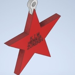 Download free STL file star star key chain • Model to 3D print, MLL