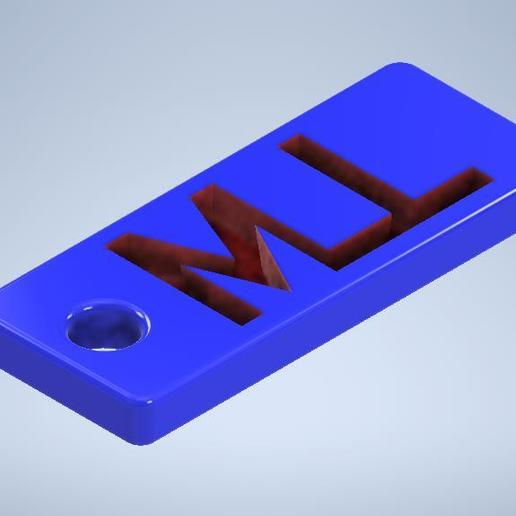 Download free STL file keychain • Model to 3D print, MLL