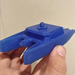 Download STL file catamaran boat • 3D print template, MLL