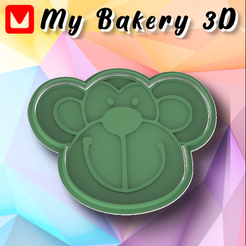 Mono.png Download STL file COOKIE CUTTER / EMPORTE-PIÈCE / ANIMAL CRACKER CUTTERS • 3D printer template, My3D