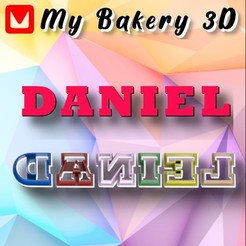 Daniel.jpg Download STL file COOKIES CUTTER / EMPORTE-PIÈCE / ROCKWELL ALPHABET COOKIE CUTTERS • 3D print object, My3D