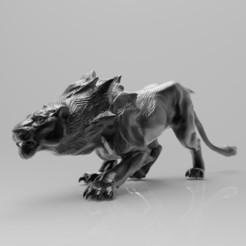 render.jpg Download free STL file Sand Lioness   Guild Wars 2 • 3D printer template, alexndefo