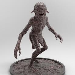 Nekker2-25x25-3.jpg Download free STL file Nekker 2 | Witcher • Model to 3D print, alexndefo