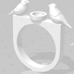 BIRD.JPG Download STL file Bird nest ring • 3D printable model, rubendelbargetc