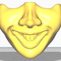 1.jpg Download STL file PENNYWISE HALF FACE MASK • 3D printer object, christopher_rambo22