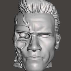 Sin título 6.jpg Download STL file MATT TERMINATOR HALF FACE • 3D printable template, christopher_rambo22