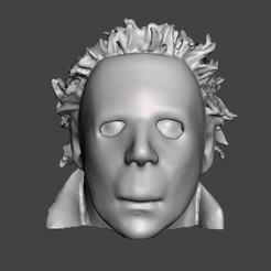 Sin título 15.jpg Download STL file MICHAEL MYERS MATT • 3D printable template, christopher_rambo22