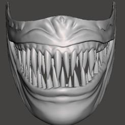 Sin título.jpg Download STL file VENOM MASK • 3D printer model, christopher_rambo22