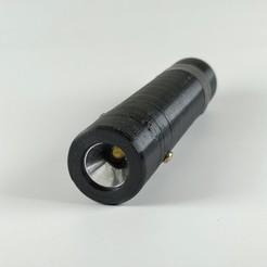 2.jpg Télécharger fichier STL Lampe de poche à LED • Objet à imprimer en 3D, IDeMa_3D