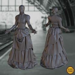 BKGcode_Lady1890_B.jpg Download free OBJ file BKGmodel 1890s Lady B • 3D printing model, BKGcode